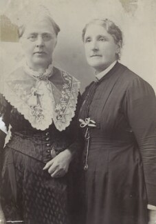 Margaret Bright Lucas; Hannah Tatum Smith (née Whitall), by Unknown photographer - NPG Ax160487