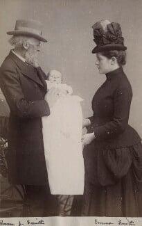 Horace J. Smith; Albanus Smith; Emma Brooks Smith (née Mellor), by Unknown photographer - NPG Ax160488