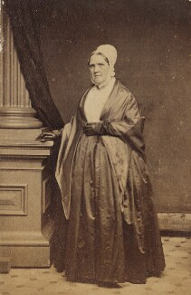 Mary Tatum Whitall in Quaker dress, by Unknown photographer - NPG Ax160493