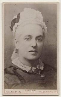 Charlotte Mary Yonge, by Alexander Bassano - NPG x135622