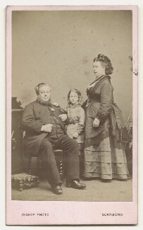 Unknown man with his wife and son, by John Inskip - NPG x26537