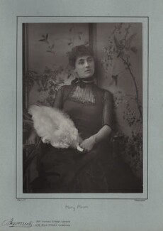Mary Moore, by Herbert Rose Barraud, published by  Eglington & Co - NPG x21404