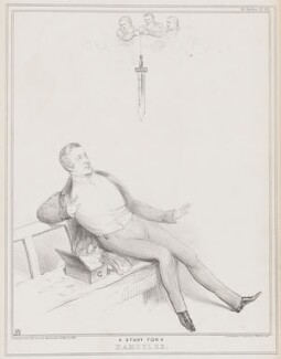 A Study for a Damocles, by John ('HB') Doyle, printed by  Ducôte & Stephens, published by  Thomas McLean - NPG D41316