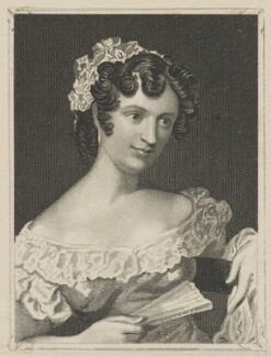 Harriet Waylett as Miss Dorville, by John Rogers, published by  George Virtue, after  Thomas Charles Wageman - NPG D38629