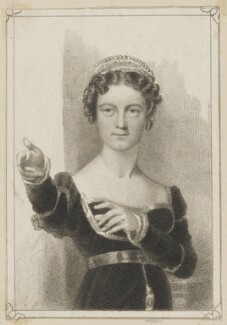 Frances Harriet Kelly as Belvidera in Otway's 'Venice Preserve', by Thomas Woolnoth, after  Thomas Charles Wageman, published 1823 or 1826 - NPG D38634 - © National Portrait Gallery, London