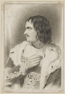 William Charles Macready as King John, by R. Page, published by  George Virtue, after  Thomas Charles Wageman - NPG D38635