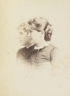 Mary Berenson (née Smith); Lillian Edgerton, by Unknown photographer, July 1883 - NPG Ax160578 - © National Portrait Gallery, London