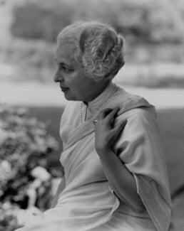 Vijaya Lakshmi Pandit (née Sarup Kumari Nehru), by Rex Coleman, for  Baron Studios - NPG x104678