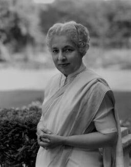 Vijaya Lakshmi Pandit (née Sarup Kumari Nehru), by Rex Coleman, for  Baron Studios - NPG x104680