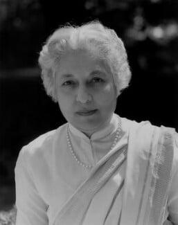 Vijaya Lakshmi Pandit (née Sarup Kumari Nehru), by Rex Coleman, for  Baron Studios - NPG x104682