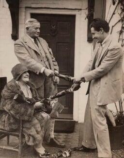 Clara Novello Davies; David Davies; Ivor Novello, by Fox Photos Ltd - NPG x135724