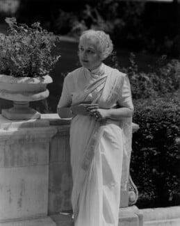 Vijaya Lakshmi Pandit (née Sarup Kumari Nehru), by Rex Coleman, for  Baron Studios - NPG x104686