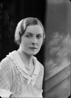 Hon. Dorothy Elizabeth Anne Pelline Eyre (née Lyon-Dalberg-Acton), by Bassano Ltd - NPG x157463