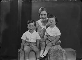 Edward Eyre; Hon. Dorothy Elizabeth Anne Pelline Eyre (née Lyon-Dalberg-Acton); Sir James Ainsworth Campden Gabriel Eyre, by Bassano Ltd - NPG x157464