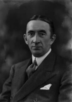 Sir Archibald Mitchelson, 1st Bt, by Bassano Ltd - NPG x157502