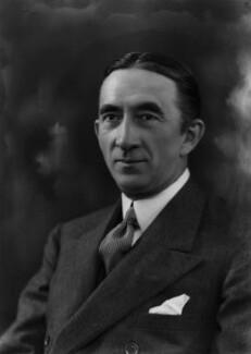 Sir Archibald Mitchelson, 1st Bt, by Bassano Ltd - NPG x157503