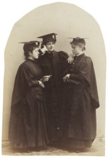'Three Cousins at Bryn Mawr' ((Mary) Grace Worthington (née Thomas); Alys Whitall Russell (née Pearsall Smith); Madge Whitall), by Unknown photographer - NPG Ax160591