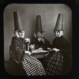 Three women in Welsh costume drinking tea, after Sir Francis Carruthers Gould ('F.C.G.') - NPG D41979