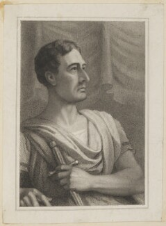 John Philip Kemble as Cato, by John Rogers, published by  T & I Elvey, after  Thomas Charles Wageman - NPG D38641