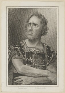 Daniel Egerton as Clytus, by Henry Richard Cook, published by  Simpkin and Marshall, after  Thomas Charles Wageman - NPG D38643