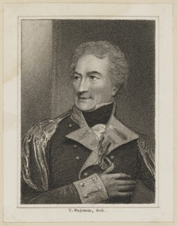 John Henry Johnstone as Major O'Flaherty, by James Thomson (Thompson), published by  Simpkin and Marshall, after  Thomas Charles Wageman, published 1818 - NPG D38645 - © National Portrait Gallery, London
