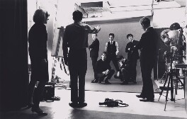 Bruce Fleming photographing The Hollies, by Bruce Fleming - NPG x135757