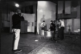 Norman Parkinson photographing The Beatles with George Martin, by David Searle - NPG x135759