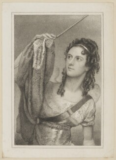 Anna Maria Tree as Ariel in 'The Tempest', by Thomas Woolnoth, published by  Simpkin and Marshall, after  Thomas Charles Wageman - NPG D38649