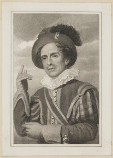 William Blanchard as Fluellen in 'Henry V', by Thomas Woolnoth, published by  Simpkin and Marshall, after  Thomas Charles Wageman, published 1823 - NPG  - © National Portrait Gallery, London