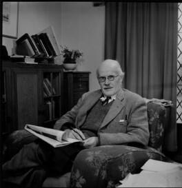 Sir Harold Jeffreys, by Antony Barrington Brown - NPG x104771