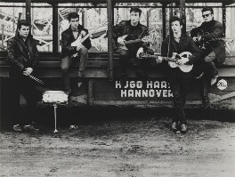 The Beatles (Pete Best; George Harrison; John Lennon; Paul McCartney; Stuart Sutcliffe), by Astrid Kirchherr - NPG P1690
