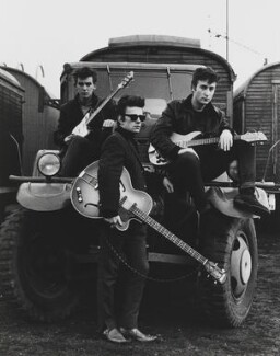 The Beatles (George Harrison; Stuart Sutcliffe; John Lennon), by Astrid Kirchherr - NPG P1691