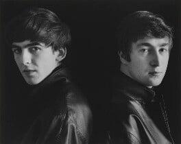 The Beatles (George Harrison; John Lennon), by Astrid Kirchherr, 1962 - NPG P1692 - © Astrid Kirchherr / Getty Images