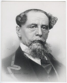 Charles Dickens, by Frederick Hager, after  Benjamin Gurney - NPG D42291
