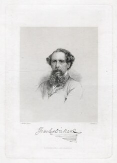 Charles Dickens, by Joseph Brown, published by  Chapman & Hall, after  John Watkins - NPG D42292