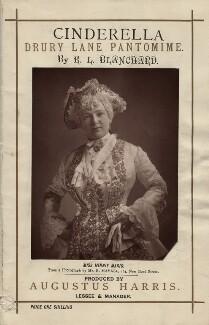 Minnie Mario in E.L. Blanchard's 'Cinderella', by John Jabez Edwin Mayall - NPG x135811