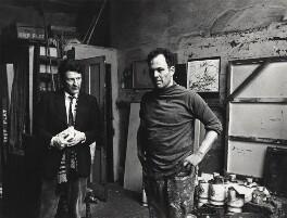 Lucian Freud; Frank Auerbach, by Harry Diamond, May 1975 - NPG x135767 - © National Portrait Gallery, London