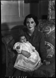 Priscilla Crystal Frances Blundell Coriat (née Weigall, formerly Viscountess Curzon) with her daughter, by Bassano Ltd - NPG x157659