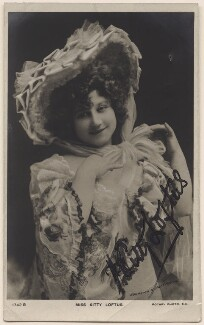 Kitty Loftus, by Johnston & Hoffmann, published by  Rotary Photographic Co Ltd - NPG x20082
