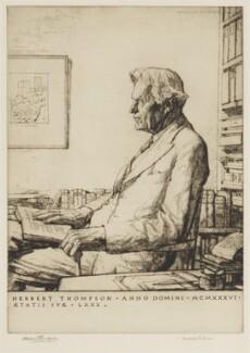 Sir (Henry Francis) Herbert Thompson, 2nd Bt, by Malcolm Osborne - NPG D42303