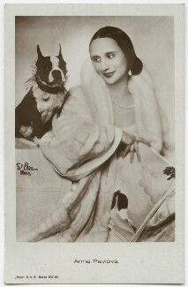 Anna Pavlova with her Boston Terrier, by Madame d'Ora (Dora Philippine Kallmus), mid-late 1920s - NPG x132874 - © reserved; collection National Portrait Gallery, London