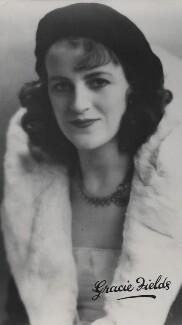 Dame Gracie Fields, by Unknown photographer, 1920s - NPG x135840 - © National Portrait Gallery, London