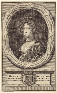 Queen Mary II, published by Pieter Mortier, after  Sir Peter Lely - NPG D42300