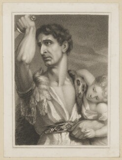 John Philip Kemble as Rolla, by Thomas Charles Wageman, published by  Simpkin and Marshall, after  Benjamin Holl - NPG D38670