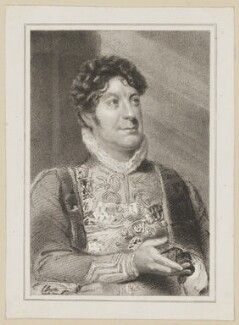 Charles Farley as Cloten in 'Cymbeline', by Thomas Woolnoth, published by  Simpkin and Marshall, after  Thomas Charles Wageman - NPG D38673