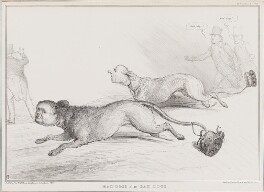 Mad Dogs alias Sad Dogs, by John ('HB') Doyle, printed by  Ducôte & Stephens, published by  Thomas McLean - NPG D41334
