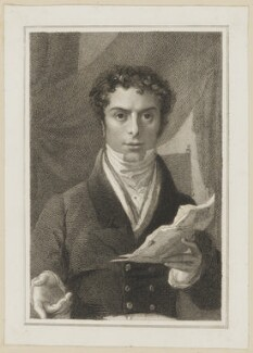 John Cooper as Egerton in Macklin's 'Man of the World', by J. Rogers, published by  Simpkin and Marshall, after  Thomas Charles Wageman - NPG D38679