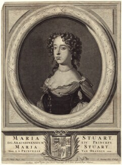 Queen Mary II, by Philibert or Filibert Bouttats, published by  Nicolaes Visscher II, after  David van der Plas - NPG D42304