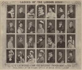 'Ladies of the London Stage', after Lock & Whitfield, and  Unknown photographers, published 1875 - NPG x135885 - © National Portrait Gallery, London