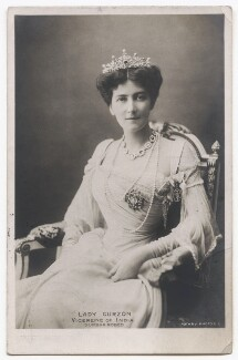Mary Victoria (née Leiter), Lady Curzon of Kedleston, by Bourne & Shepherd, published by  Rotary Photographic Co Ltd - NPG x135952